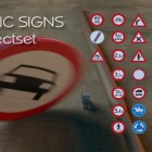 New product : High Quality Traffic Signs object set