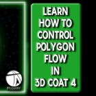 Learn How to Control the Polygon Flow of your 3D Models in 3D Coat Version 4!!