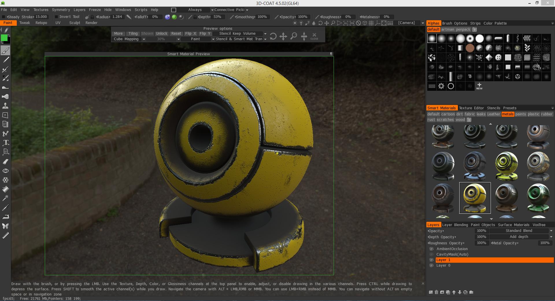 3D Coat 45 Volume 18 PBR and Smart Materials I Liberty3Dcom