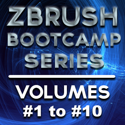 ZBrush Bootcamp Series- Volumes #1 to #10 [AG]