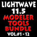 Lightwave 11.5 Modeler Tools Bundle Volumes #1 to 12 (AG)