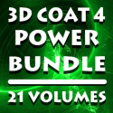 3d Coat 4- Power Bundle- 21 Volumes [AG]