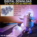 ViC-B1 Retro Robot Model Kit STL Download [dwb]