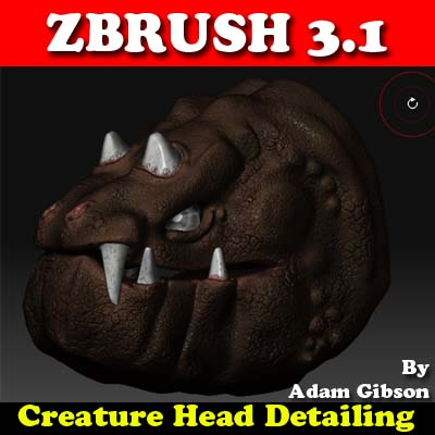 ZBrush 3.1 Creature Head Detailing