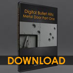 Digital Bullet Hits: Bullets in a Metal Door 1 [dwb]