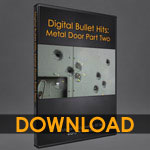 Digital Bullet Hits: Bullets in a Metal Door 2 [dwb]