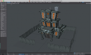 This is a spooky old house, modeled in LightWave3D, with a UV map.