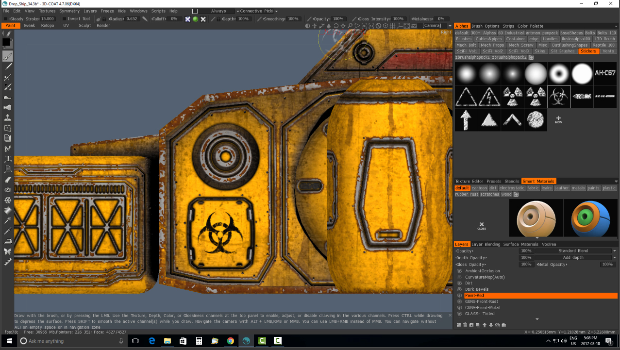 3D Coat 4 7- Sci-Fi Detailing II- PBR & Alpha Brushes (Bonus