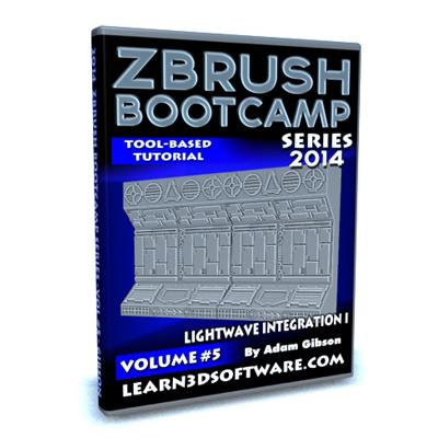 ZBrush Bootcamp 2014- Volume #5- Lightwave Integration I  [AG]
