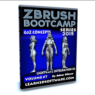 ZBrush Bootcamp- Volume #7- Lightwave Integration III- GoZ Concepts [AG]