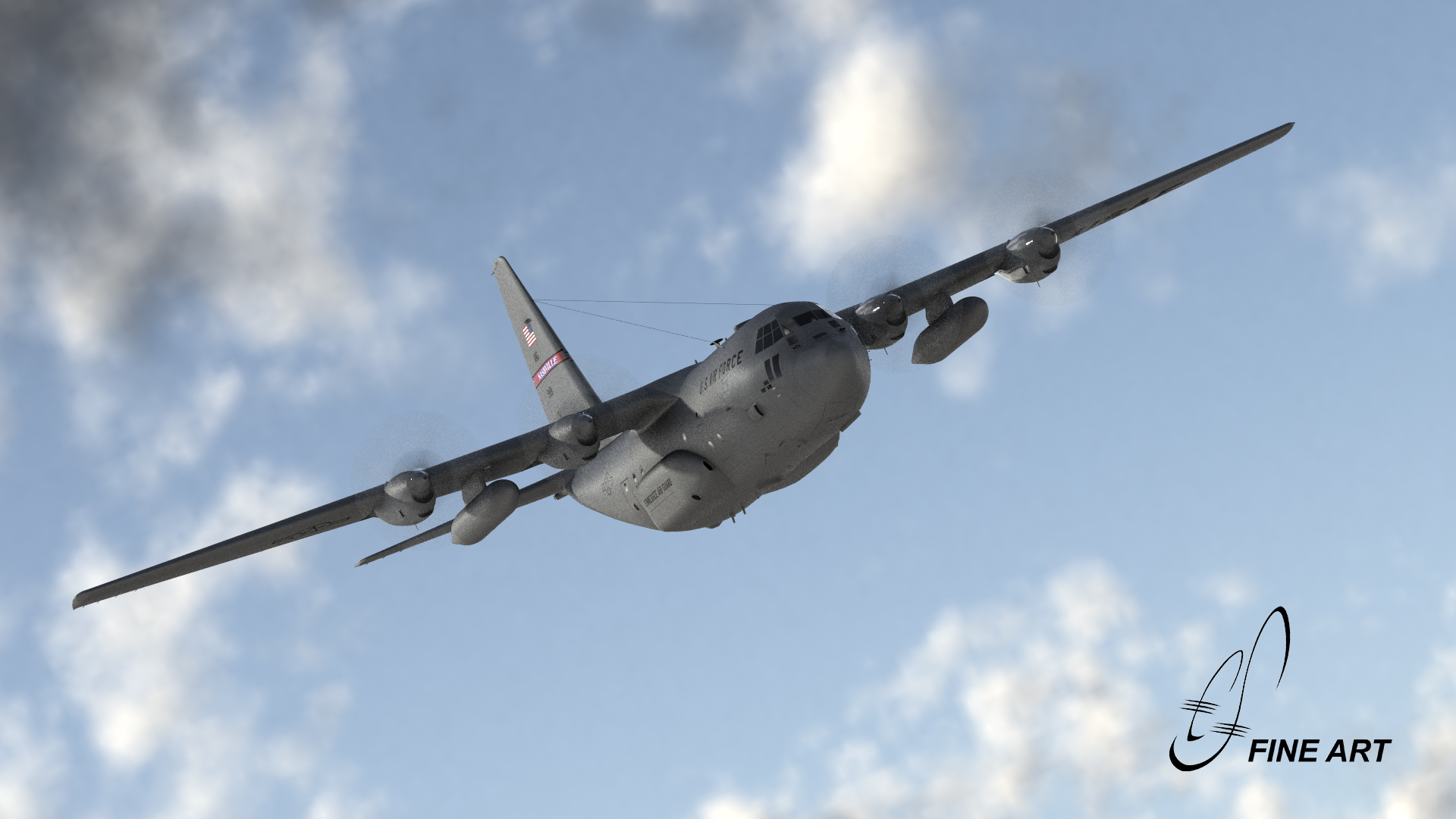 C-130 Hercules in LightWave3D [CAT]