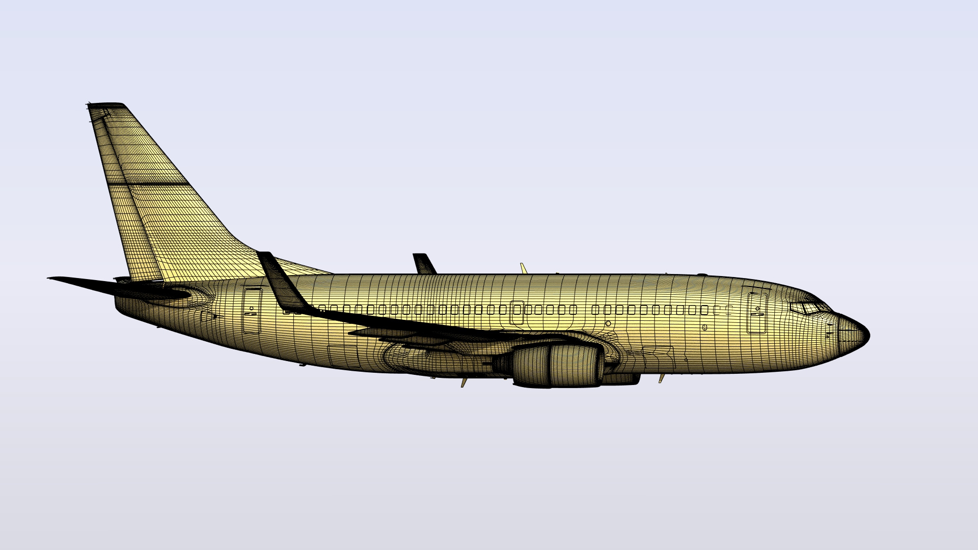 Boeing 737-700 in LightWave 3D [Cat]