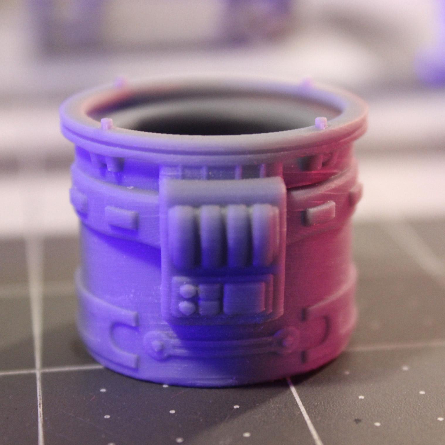 Vic-B1 3D printed body: back